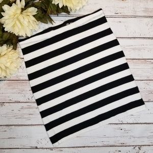 H&M | Striped Bodycon Mini Skirt